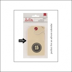 American Crafts Bits Envelope Tag Nippynose Number 15 Kringle and Co Collection