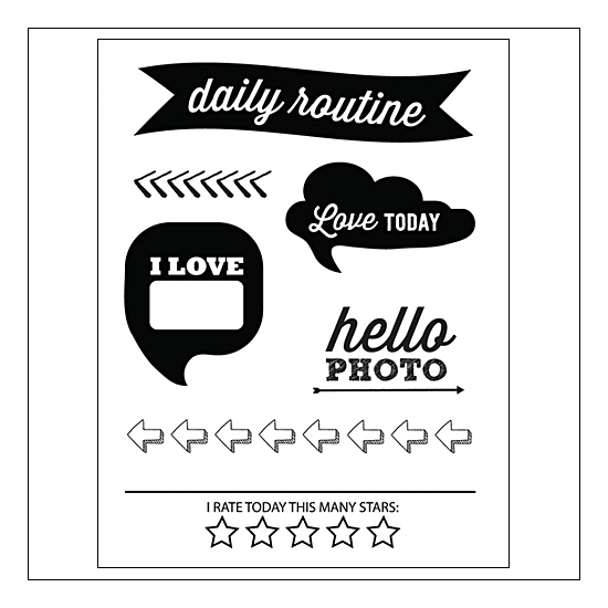 Evalicious Clear Stamp Set Daily Routine
