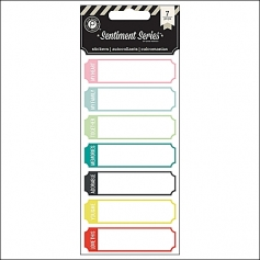 Pink Paislee Stickers Tickets Sentiment Series Collection
