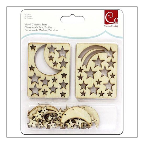 Cosmo Cricket Wood Charms Stars