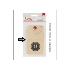 American Crafts Bits Envelope Tag Nippynose Number 17 Kringle and Co Collection