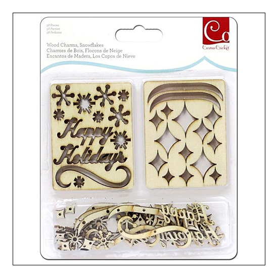 Cosmo Cricket Wood Charms Snowflakes