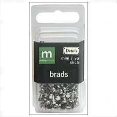 Making Memories Brads Mini Circle Silver