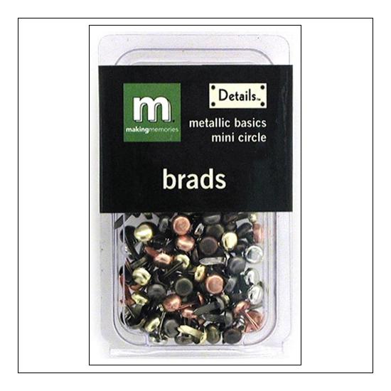 Making Memories Brads Mini Circle Metallic Basics