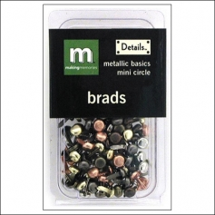 Making Memories Brads Mini Circle Metallic Basics