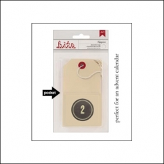 American Crafts Bits Envelope Tag Nippynose Number 2 Kringle and Co Collection