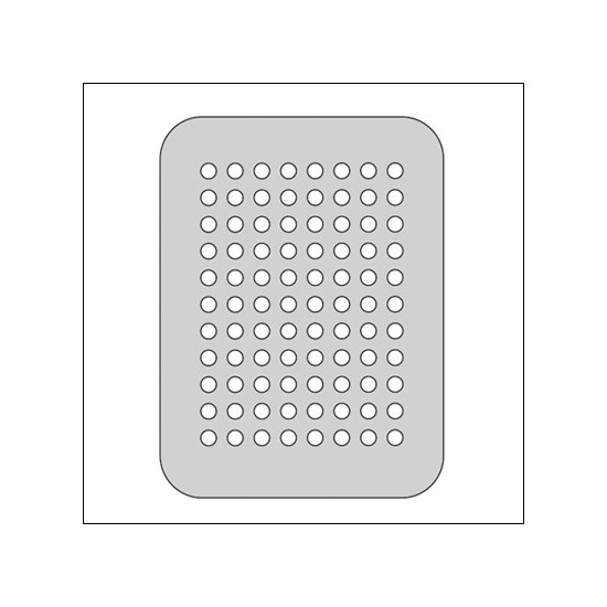 The Crafters Workshop Metal Die 3x4 Dots