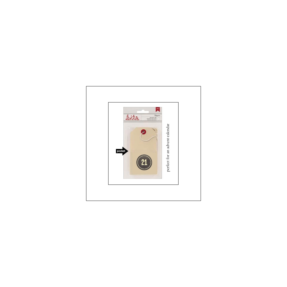 American Crafts Bits Envelope Tag Nippynose Number 21 Kringle and Co Collection