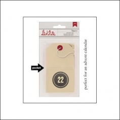 American Crafts Bits Envelope Tag Nippynose Number 22 Kringle and Co Collection