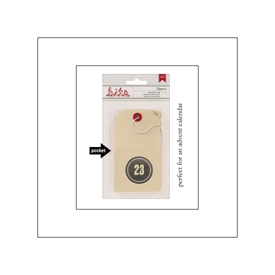 American Crafts Bits Envelope Tag Nippynose Number 23 Kringle and Co Collection