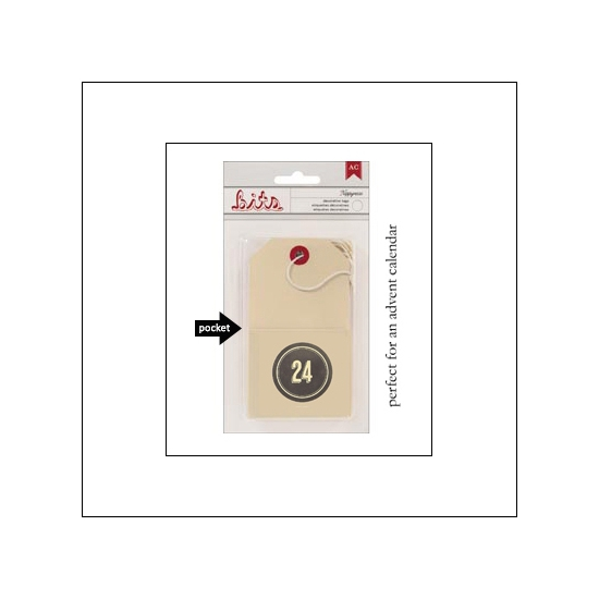 American Crafts Bits Envelope Tag Nippynose Number 24 Kringle and Co Collection