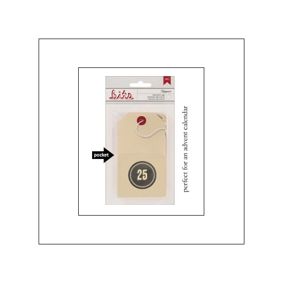 American Crafts Bits Envelope Tag Nippynose Number 25 Kringle and Co Collection