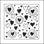 The Crafters Workshop Mini Template 6x6 Whimsical Hearts by Karen Ellis