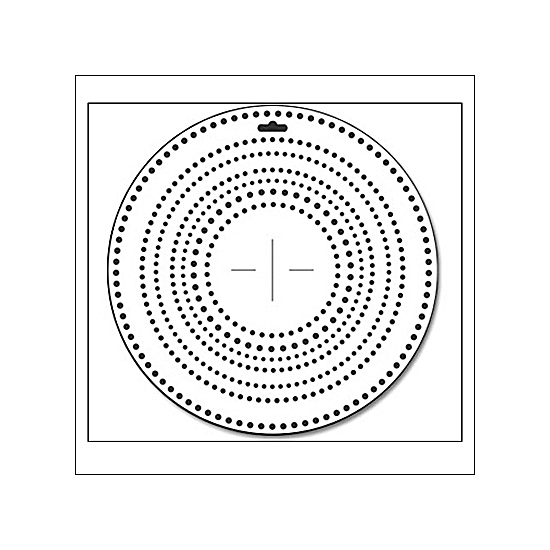 The Crafters Workshop Template 12x12 Dots All Around