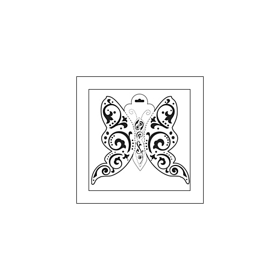 The Crafters Workshop Mini Template 6x6 Butterfly