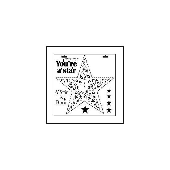 The Crafters Workshop Mini Template 6x6 Star