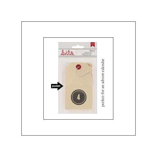 American Crafts Bits Envelope Tag Nippynose Number 4 Kringle and Co Collection