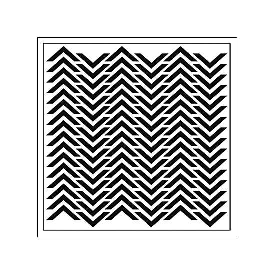 The Crafters Workshop Template 12x12 Chevron by Balzer Designs