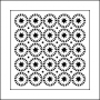 The Crafters Workshop Mini Template 6x6 Stars and Circles by Balzer Designs