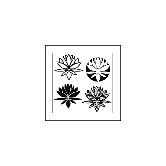 The Crafters Workshop Mini Template 6x6 Lotus Blossom by Balzer Designs