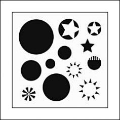 The Crafters Workshop Mini Template 6x6 Layered Circles by Balzer Designs