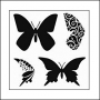 The Crafters Workshop Mini Template 6x6 Butterflies by Balzer Designs