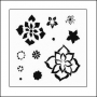 The Crafters Workshop Mini Template 6x6 Layered Flowers by Balzer Designs
