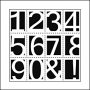 The Crafters Workshop Mini Template 6x6 Life Numbers