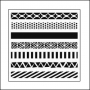 The Crafters Workshop Mini Template 6x6 Pattern Strips by Balzer Designs