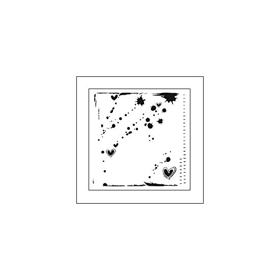 The Crafters Workshop Mini Template 6x6 Confetti by Ronda Palazzari