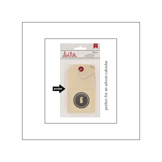 American Crafts Bits Envelope Tag Nippynose Number 6 Kringle and Co Collection