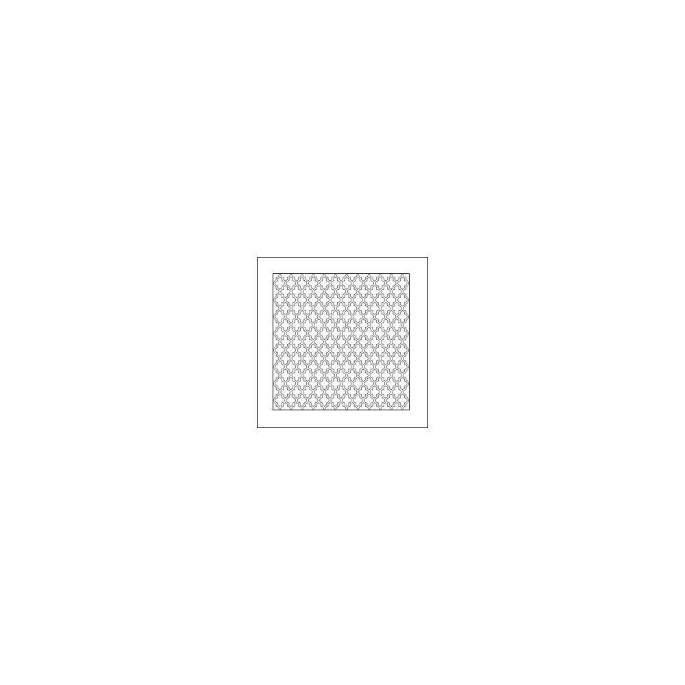 The Crafters Workshop Mini Template 6x6 Quatrefoil by Ronda Palazzari