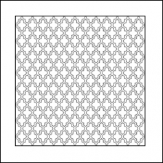 The Crafters Workshop Mini Template 6x6 Quatrefoil by Ronda Palazzari