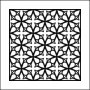 The Crafters Workshop Mini Template 6x6 Garden Gate