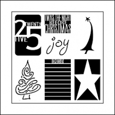 The Crafters Workshop Mini Template 6x6 Twas the Night by Ronda Palazzari