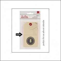 American Crafts Bits Envelope Tag Nippynose Number 8 Kringle and Co Collection