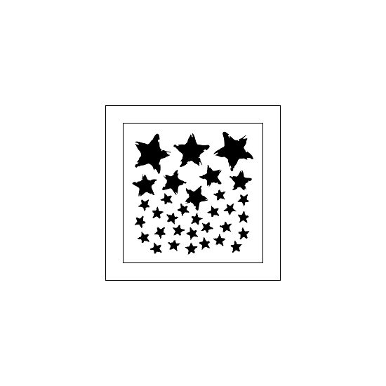 The Crafters Workshop Mini Template 6x6 Star Fall by Dina Wakley