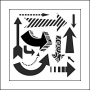 The Crafters Workshop Mini Template 6x6 Susanas Arrows by Jaime Echt