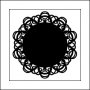 The Crafters Workshop Mini Template Bits 4x4 Doily by Balzer Designs