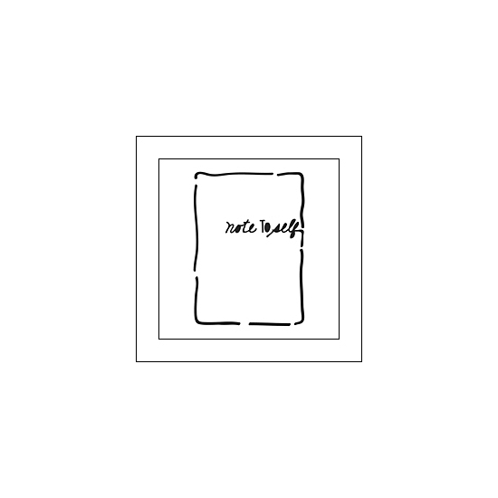 The Crafters Workshop Mini Template Life Bits 3x4 Note to Self by Jen Boumis