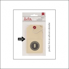 American Crafts Bits Envelope Tag Nippynose Number 9 Kringle and Co Collection