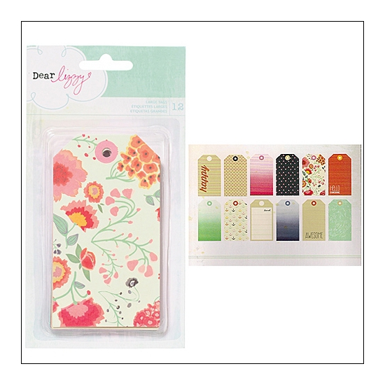 American Crafts Large Tags Lucky Charm Collection by Dear Lizzy