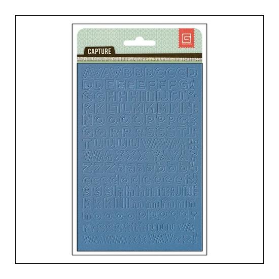 Basic Grey Alphabet Stickers Blue Capture Collection