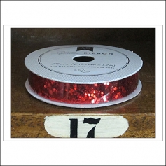 American Crafts Premium Ribbon Spool Chunky Glitter Red Kringle and Co Collection