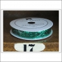 American Crafts Premium Ribbon Spool Glitter Green Kringle and Co Collection