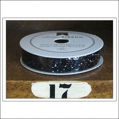 American Crafts Premium Ribbon Spool Glitter Black Kringle and Co Collection