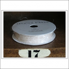 American Crafts Premium Ribbon Spool Jute Ivory