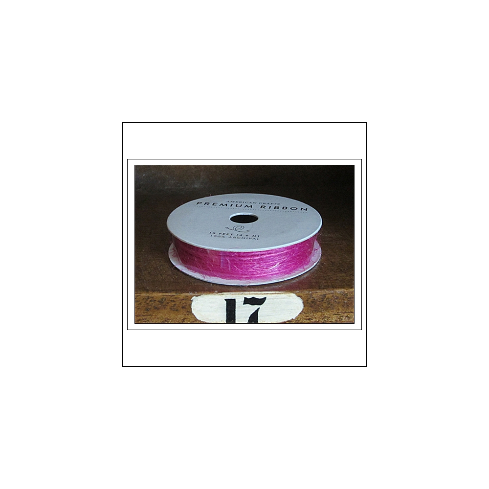 American Crafts Premium Ribbon Spool Jute Rhodamine