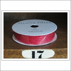 American Crafts Premium Ribbon Spool Jute Red