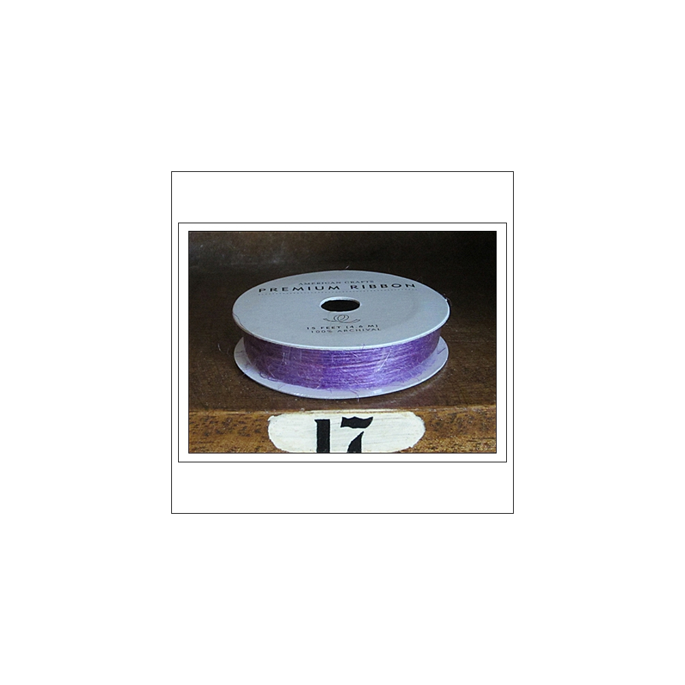 American Crafts Premium Ribbon Spool Jute Purple